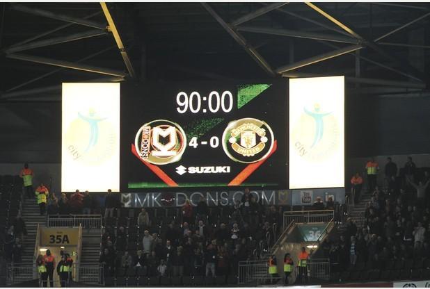 26/08/14 MK Dons v Manchester United - stadiummk 26/08/2014 - MK Dons V Manchester United -Final score - Picture Andy Handley