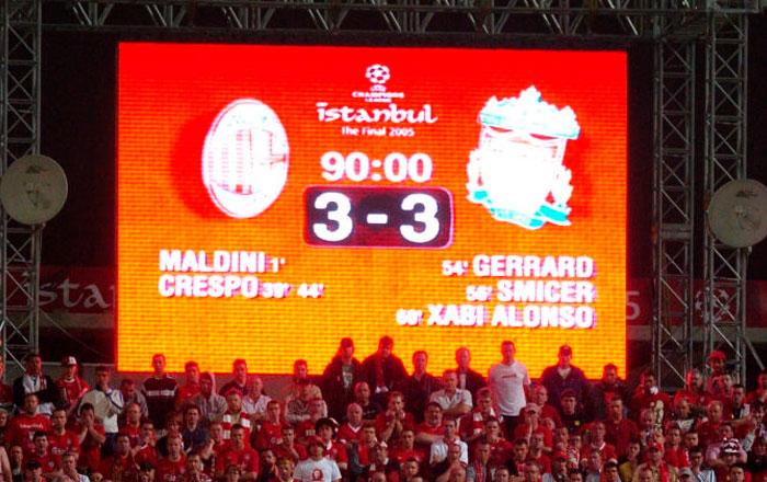 Ничья в матче Милана и Ливерпуля в финале ЛЧ-2005