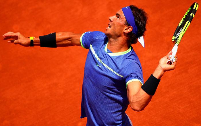Надаль в действии - лучший теннисист на грунте в истории